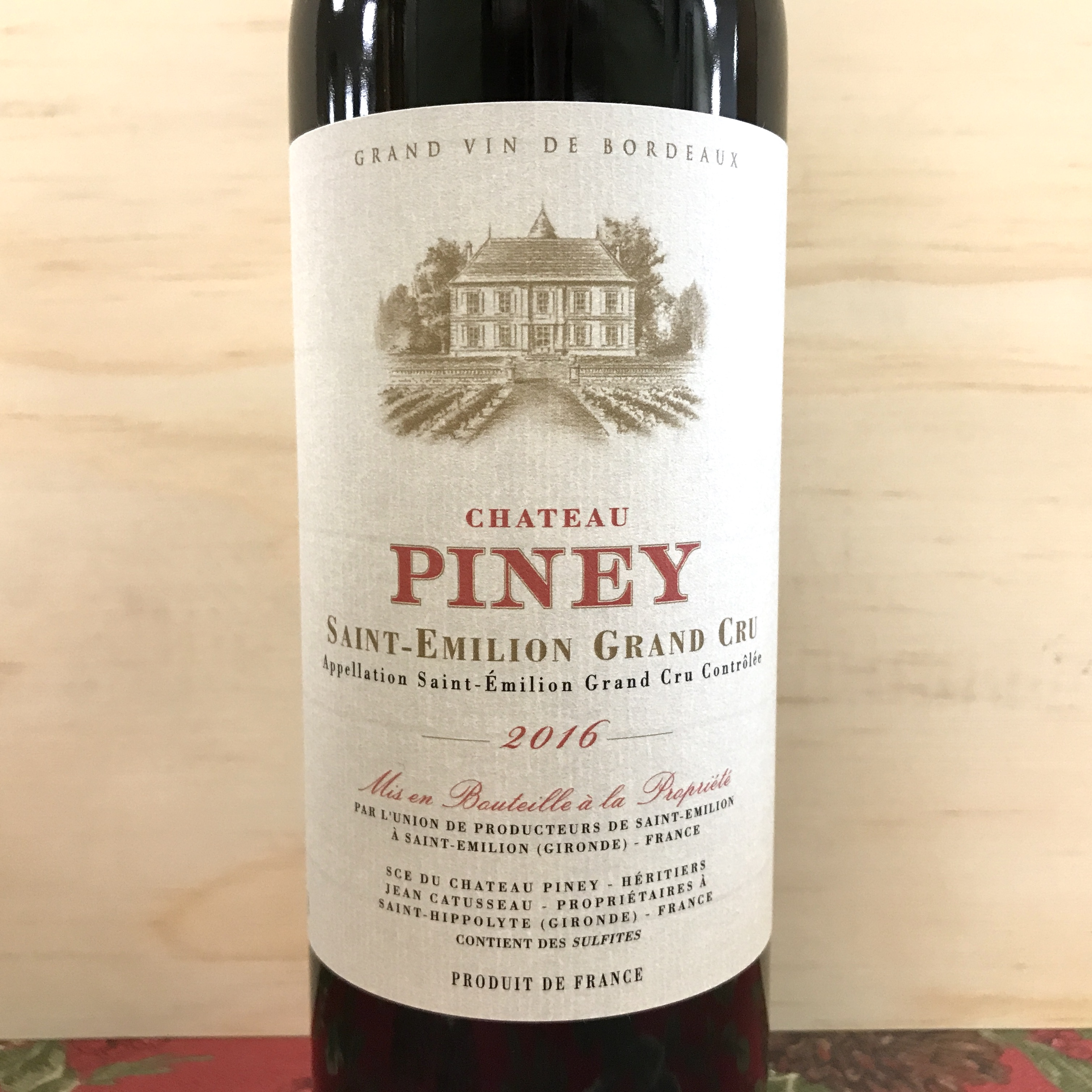 Chateau Piney Saint-Emilion Grand Cru 2016